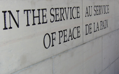 In the service of peace inscription