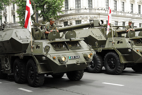 Tanks in Tbilisi